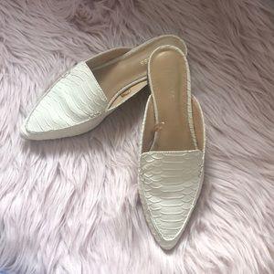 Express heel off white slides/mules